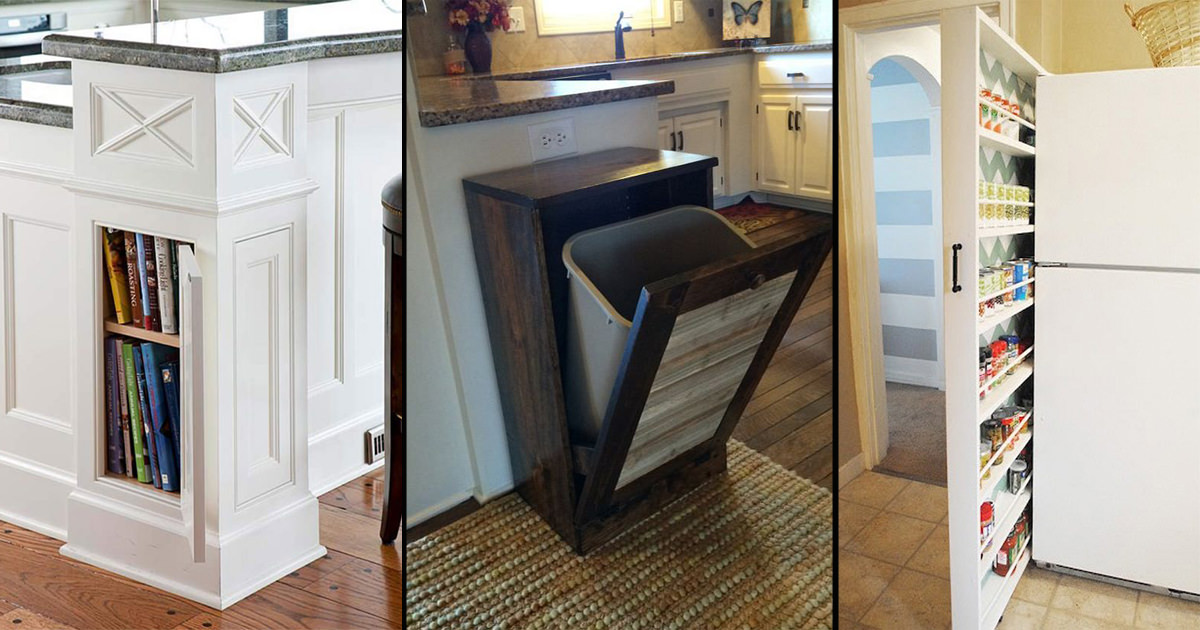 Amazing and unique hidden kitchen storage ideas citchen for Hidden kitchen storage ideas